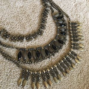 Jewelry - Fabulous black and gold statement necklace