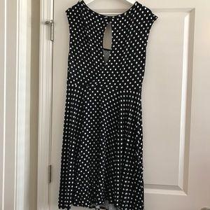 Polka dot dress with keyhole back!