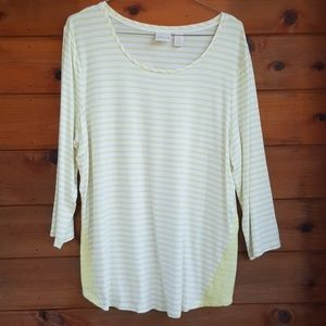 Chico's 3/ sleeve tunic size 2