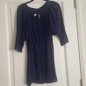 Parker Blue Silk Dress