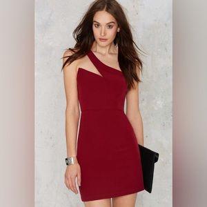 Asymmetric Single Strap Dress