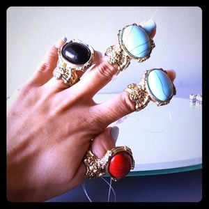 Jewelry - 💖5 New Rustic Fashion Theater Rings Jewelry Lot