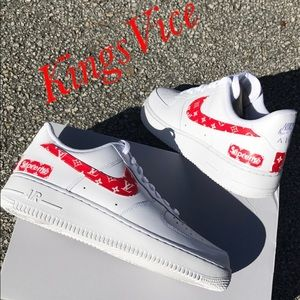 reputable site 5c4a9 c5b1e Nike Shoes - Custom Supreme X Louie Vuitton Nike Air Force 1s