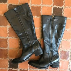 BORN Black POLY TALL BOOTie RIDING Sz 6 or 9.5