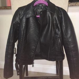 Jackets & Blazers - Never worn Guess leather Moto jacket XS