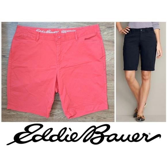 Curvy Fit Eddie Bauer Womens Stretch Legend Wash Shorts 10