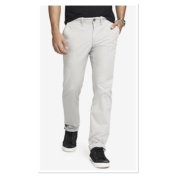 Men's Clothing Clothing, Shoes & Accessories 34x30 Gray Grey Casual Or Dress Pants Express Men's Finn Slim Chinos