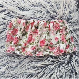 floral lace tube top / bandeau / festival crop