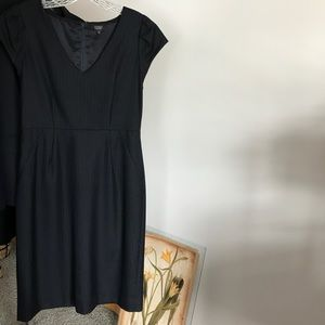 J. Crew pinstripe super 120s dress (100% wool)