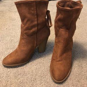Adorable brown booties!