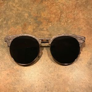 Accessories - Faux Wooden Framed Sunglasses