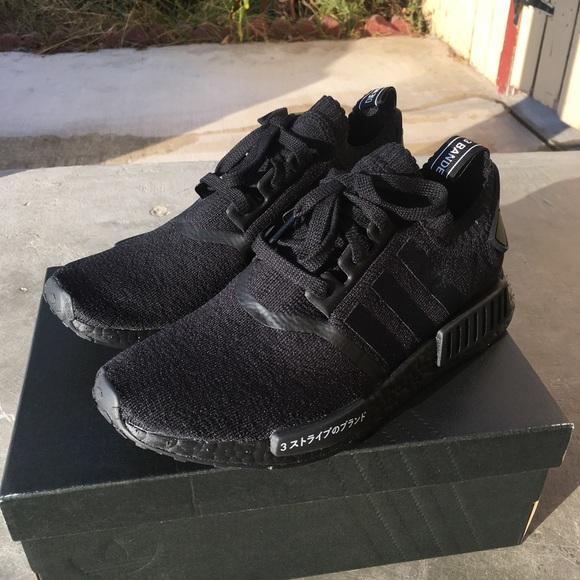 le adidas nmd r1 primeknit giappone confezione nera poshmark