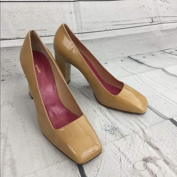 f37e31d8fc kate spade Shoes - Kate Spade Square-Toed Nude High Heel Pumps