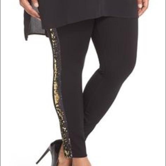 2d91fa33744 Lysse Sequin Pointe Legging Pants Plus Size 2X