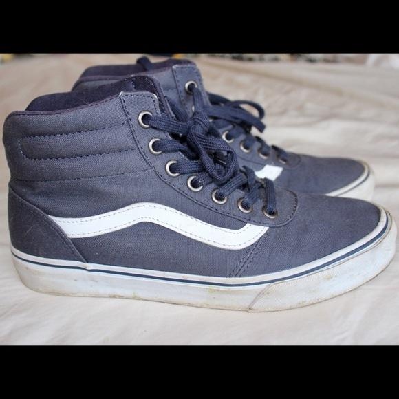 Vans Shoes - Vans sk8 hi lite navy blue and white 70602b2d8bb9