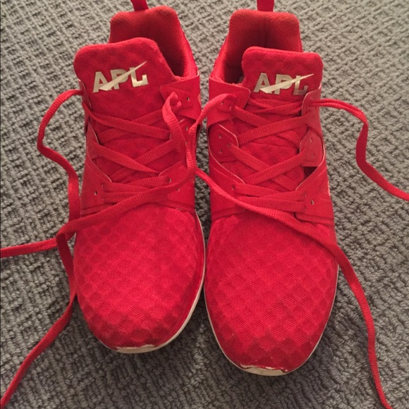 APL Shoes   Red Apl Sneakers Worn Once
