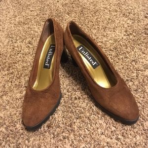 Unlisted Brown Suede Leather shoes x Heels