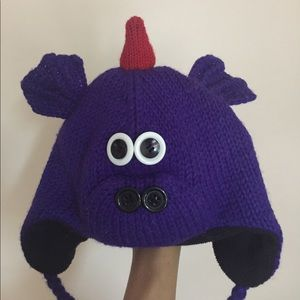 Dragon Hat. Wool outer/ fleece lined