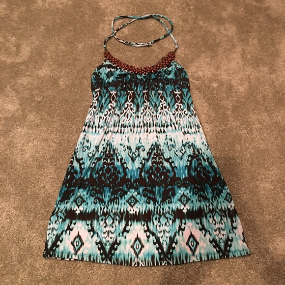 HeartSoul Dresses & Skirts - Blue print halter dress