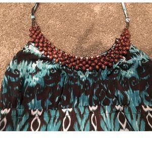 HeartSoul Dresses - Blue print halter dress