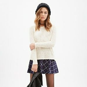 Textured Raglan Knit Sweater