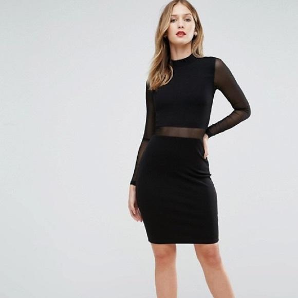 dcd2053ba33 French Connection Dresses   Nwt Mesh Cutout Bodycon Dress   Poshmark
