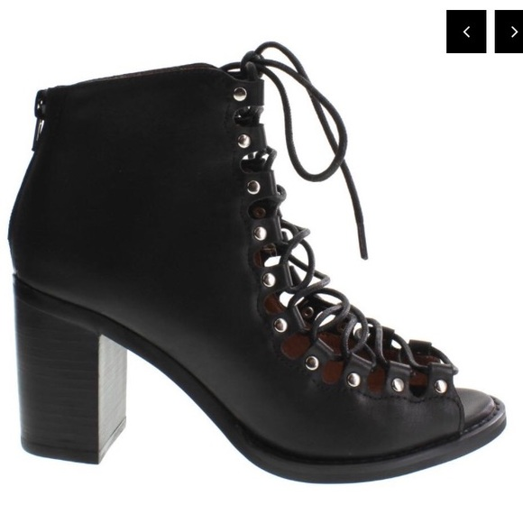 e3acd6b994c New Jeffrey Campbell Cordova Black Leather Bootie Boutique