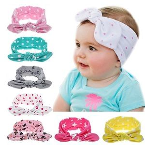 Other - Set of soft and adorable baby headbands