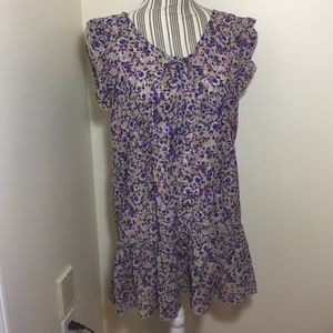 Cute Sheer Floral Sleeveless Top