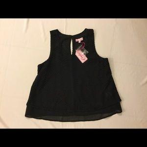 ⬇$30 Candie's Black Lace Tank Top Medium    NWT