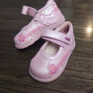 Umi Pink Leather MaryJane Shoes 4C