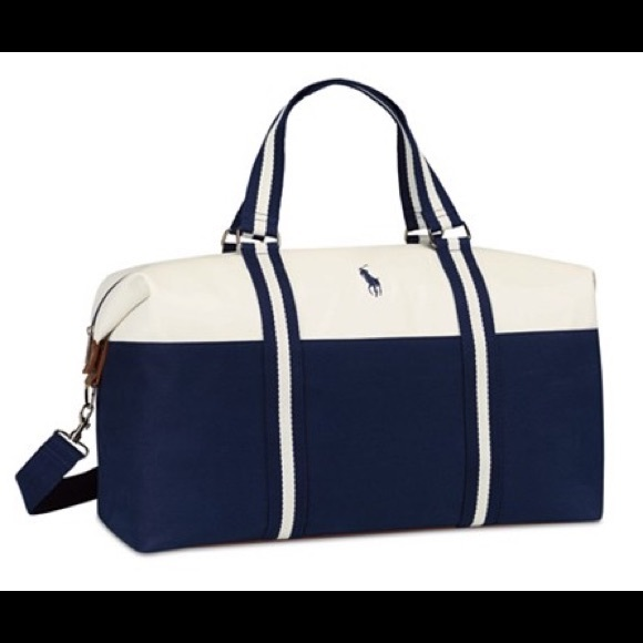 079acad87936 Polo Ralph Lauren blue white duffle bag. M 599ce0e7680278656601bc89