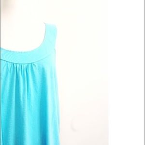 New Pink K Turquoise Aqua Blue Sleeveless Tank Top