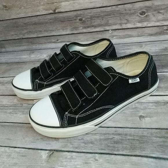 vans shoes velcro strap