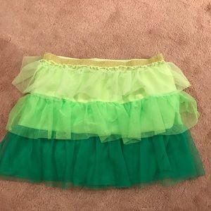 Other - girls green tiered tutu skirt