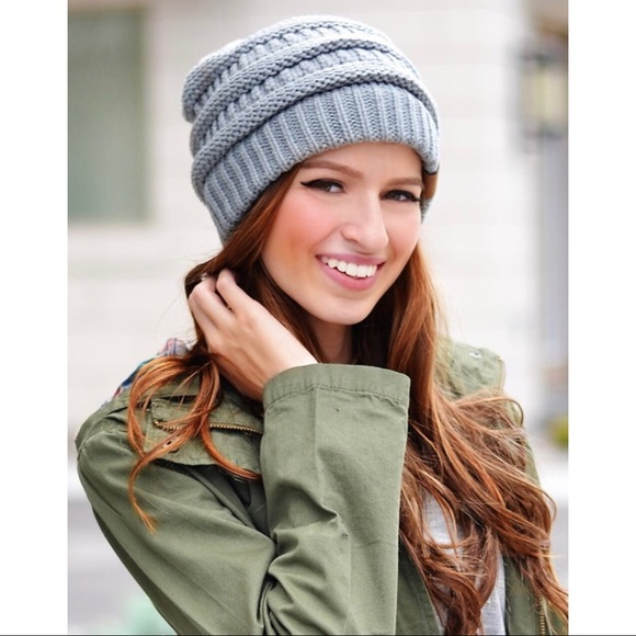 C.C. slouchy Beanie - Natural Gray bbd1aa90c51