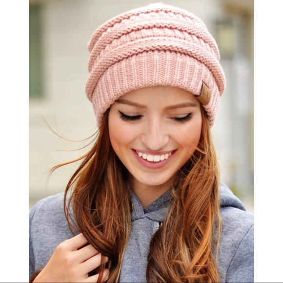08518d88efe609 Crane Clothing Co. Accessories | Cc Slouchy Beanie Rose Pink | Poshmark