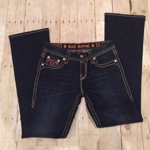 Rock Revival easy boot stretch Jean 27/34 new
