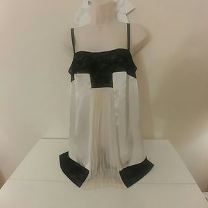 Victoria's Secret ivory and black babydoll nightie