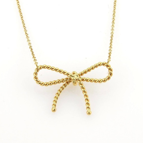 1e05afc1c Tiffany & Co. Jewelry | Tiffany 18k Gold Twisted Cable Wire Bow ...