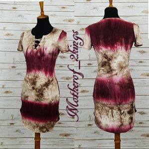 """Dresses & Skirts - 🎀NEW ARRIVAL🎀 TIE DYE """"LACE UP"""" TEE DRESS"""