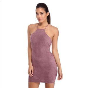 Dresses & Skirts - 💐PLUM RACE TO SUEDE MINI DRESS!💐