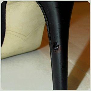 Enzo Angiolini Shoes - Enzo Angiolini Black Patent Open-Toe Pumps 8.5M