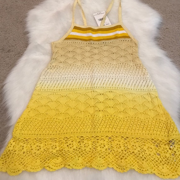 Free People Tops - Brand new yellow crochet knit Free People tank top