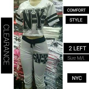 Tops - CLEARANCE 2PC NY CROP TOP SET