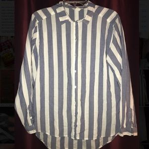 H&M Striped Long Sleeve Blouse