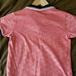 6f8ce3cc965b Gucci Shirts & Tops | Boys Gg Print Classic Polo Shirt | Poshmark