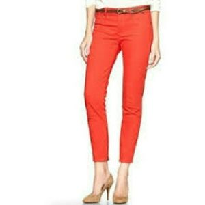 Gap Red Zipper Ankle 1969 Legging Jeans Sz 8