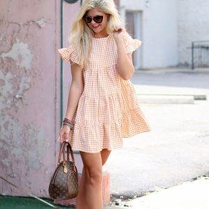 Dresses & Skirts - Gold Gingham Dress