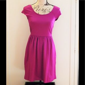 American Eagle Girly Fuchsia V-Back Dress Sz XS